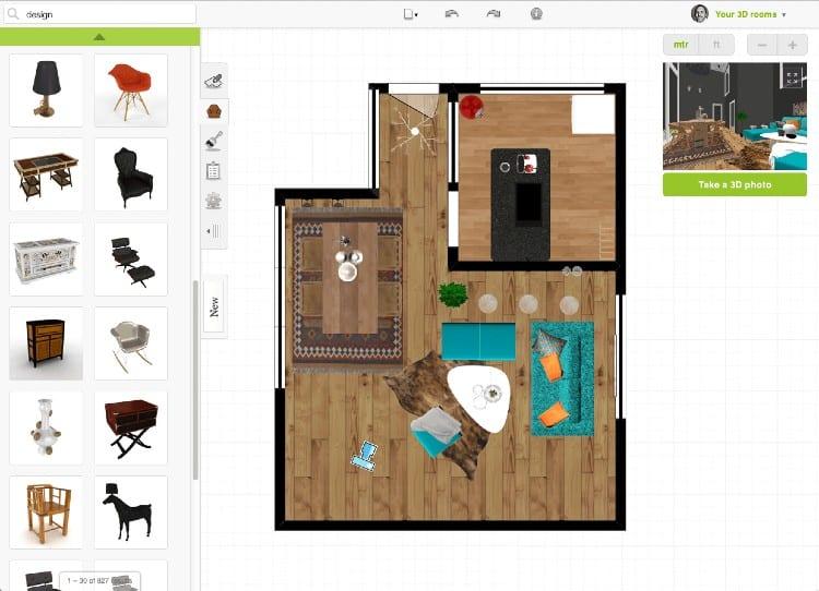 Basement designing software Roomstyler