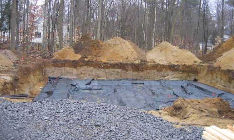 Basement escavation