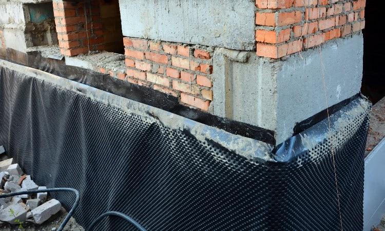 Basement wall leak repair