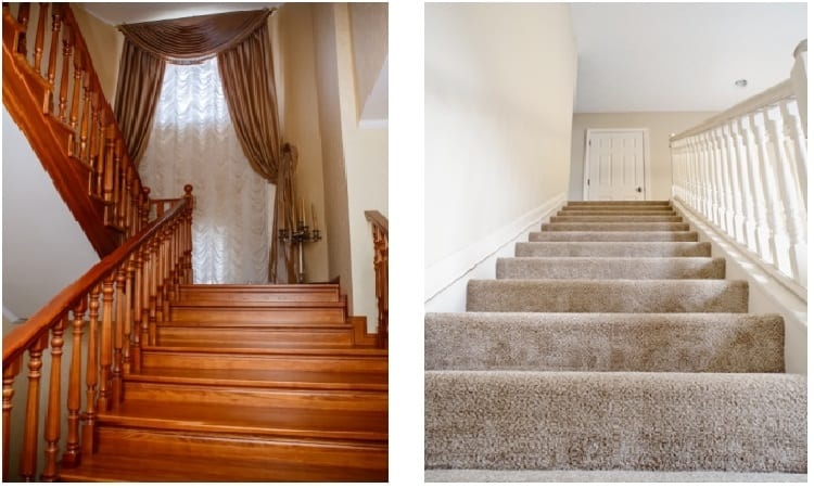 Carpet or Wood Stairs