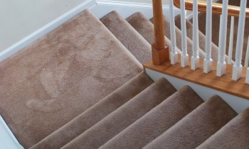 Clean carpeted stairs