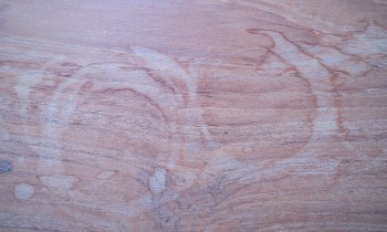 Heat Stains on Wood