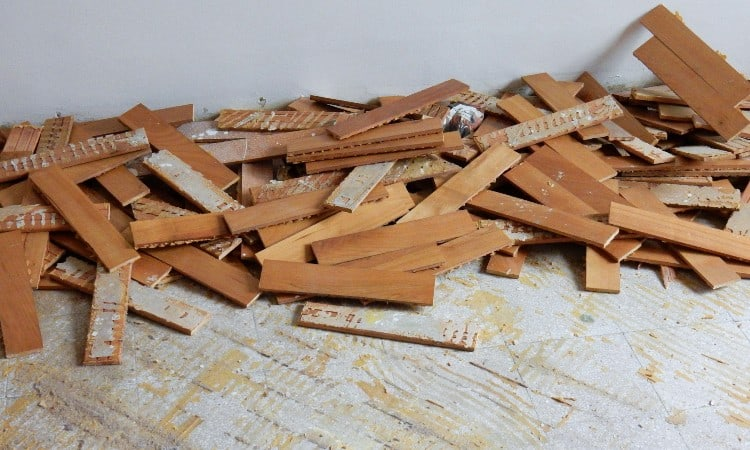 How to Remove Glued Down Wood Flooring