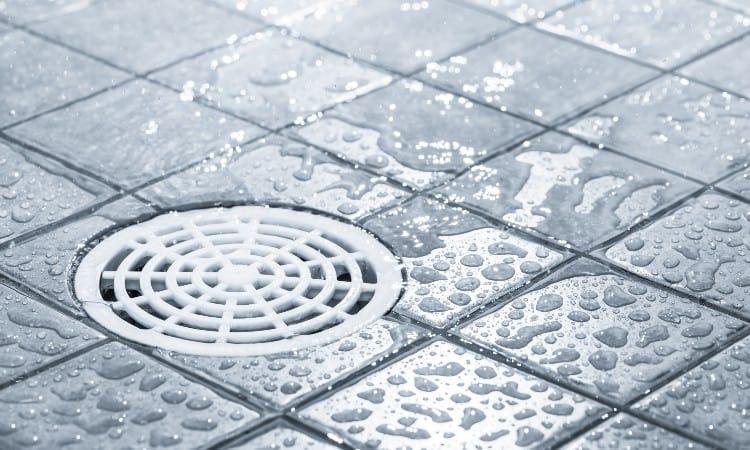 Leaking shower drain