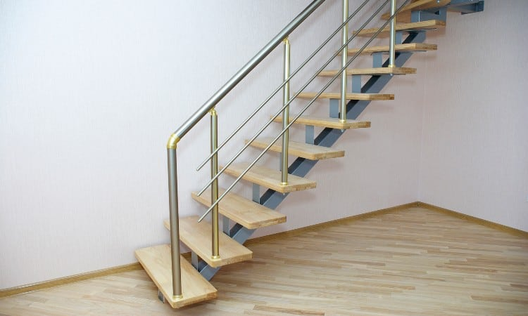 Open risers stairs