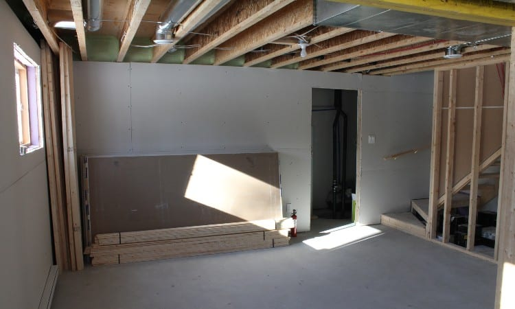 Painting an Exposed Basement Ceiling Black