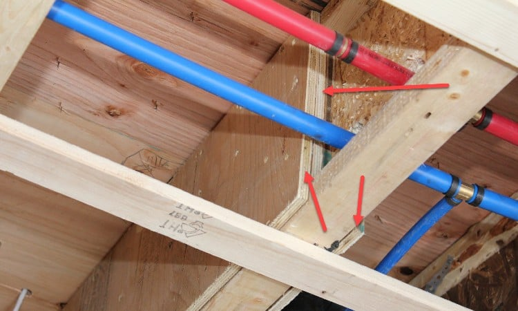Reinforcing floor joists with plywood