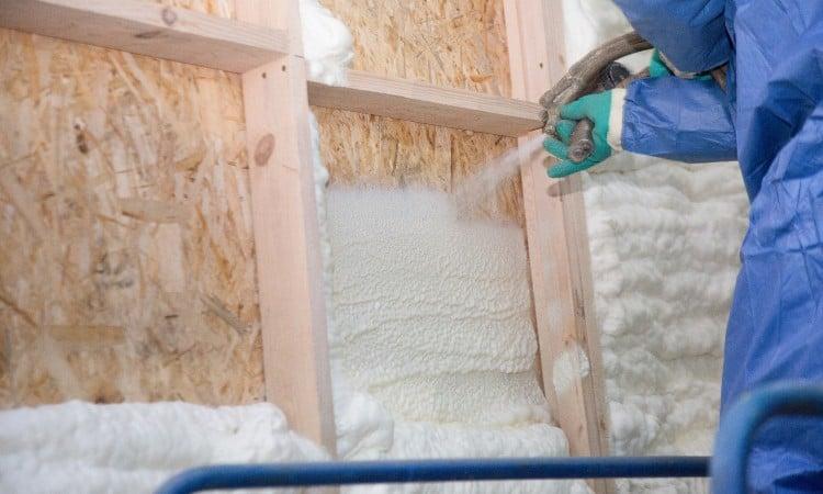 Sound deadening spray foam