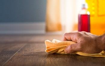 Water stain on hardwood floor