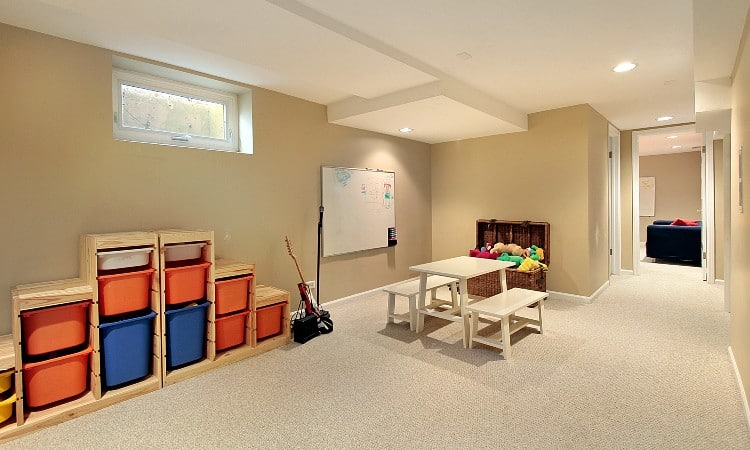 What makes a basement finished
